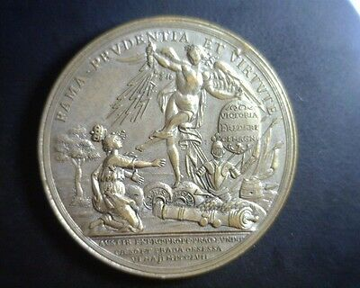 ICOIN - 1757 Prussian Medal Frederick the Great Victory Kicks Crown off Bohemia