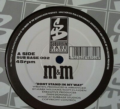M&M - Don't Stand In My Way - aSuburban Base - 1991 Old Skool