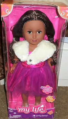 "African American Hispanic Ethnic My Life As... Party Planner Doll 18"" NIB"