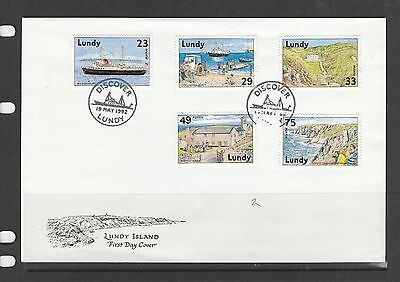 Lundy island FDC 1997 St Helenas Church, cat Nos 310-12