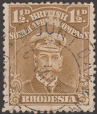 Rhodesia 1923? KGV Admiral 1½d Used with MOUNT DARWIN Postmark