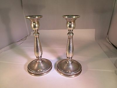 "Prelude International Sterling Silver Candlestick Holders N213 7.25"" H G-466"