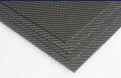 3K Carbon & Glass Fibre Composite Sheet 4.0mm x 200mm × 250mm : £29.75 free P&P
