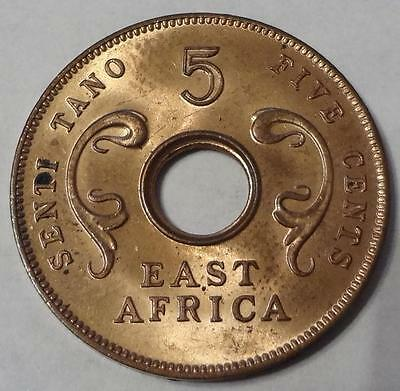 1964 East Africa, British Colonies, 5 Cents, One Year Type, Sharp Details
