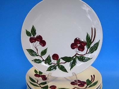 """Vintage 1950 Orchard Ware 8 Dinner Plates Cherry Pattern 10 1/2"""""""