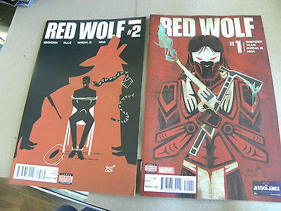 Marvel 2015 2 of 6 issues RED WOLF #1 and #2 qq