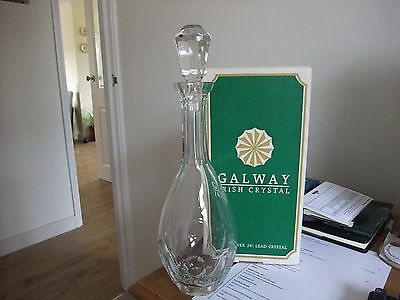 Galway Crystal 'Oyster' Cut Glass Decanter SS-006080