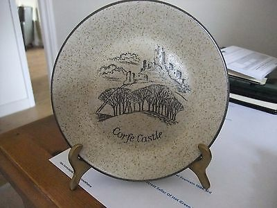 Beautiful Purbeck Pottery Wall Plate Of Corfe Castle