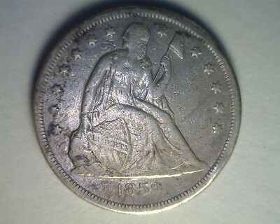 ICOIN - 1859-O Seated Liberty Dollar from an estate VF details