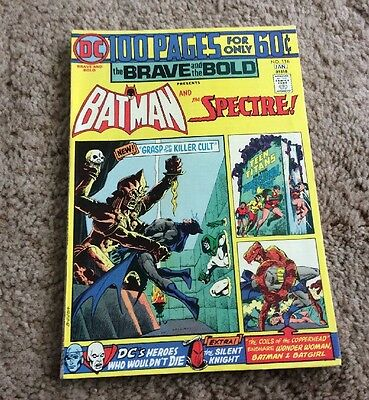 1974 Brave And The Bold #116 DC Giant 100 Page Issue Batman Spectre Nice LOOK