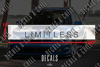 Limitless Sun Strip Visor Windshield Banner Decal Sticker - Illest Lowered JDM