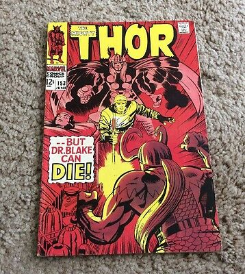 1968 The Mighty Thor #153 Marvel Silver Age Nice LOOK