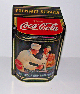 Coca Cola Coke Flip Top Candy Food Tin Container