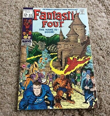 1969 Fantastic Four #84 Marvel Silver Age Dr Doom Nice LOOK