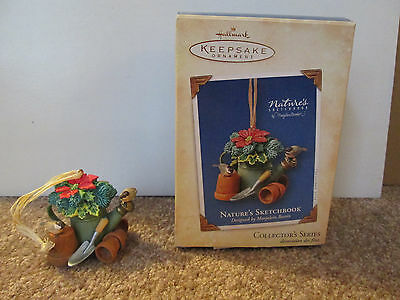 Hallmark Ornament Nature's Sketchbook 2004 Watering Can 2nd in series
