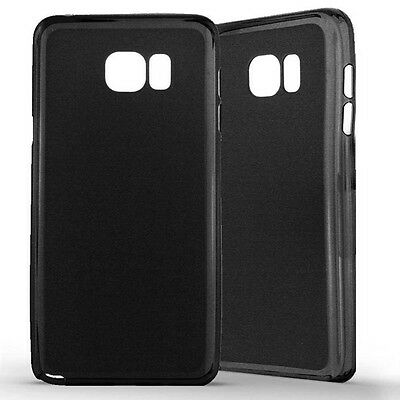 Housse Coque Etui Samsung Galaxy Note 5 Silicone Gel Protection arrière- Noir