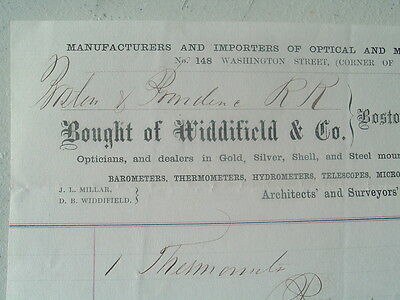 1866 Widdifield SIGNED,Surveyor,Tools,Architects Instruments,Maker's Letterhead!