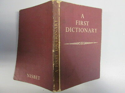 Acceptable - First Dictionary - Wright, Walter D. 1951-12-01 December 1959 print