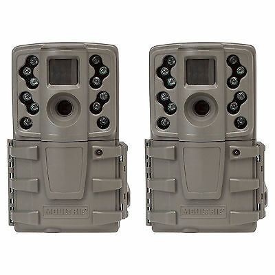 Moultrie A20 12MP Long Range Low Glow Infrared Hunting Game Trail Camera, 2 Pack