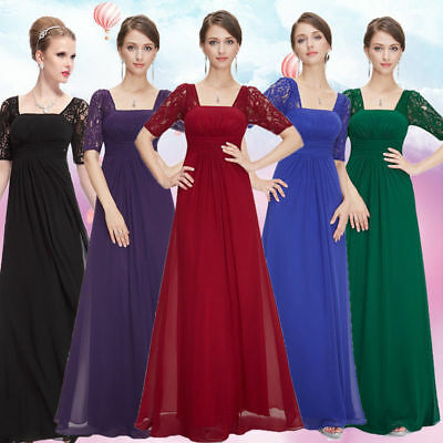 US Women Chiffon Formal Gown Evening Prom Party Plus Dress 08038 Ever-Pretty