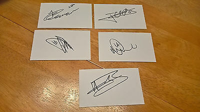 Huddersfield Town - 5 Signed White Cards - Jonathan Hogg & 4