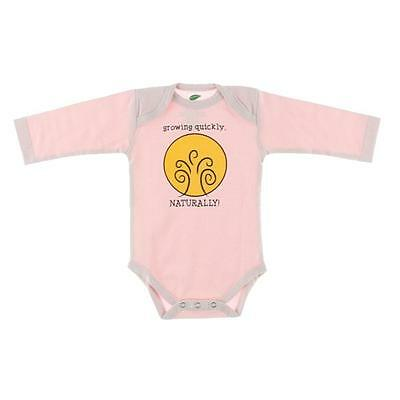 The Green Creation 0053 Pink Organic Graphic Natural Bodysuit Top 0-3 MO BHFO