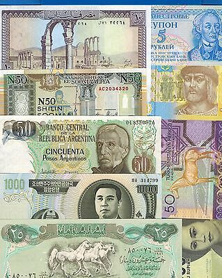 30 Uncirculated Banknotes From 30 Different Countries Free Shipping