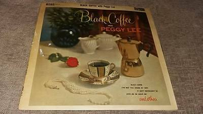 "Peggy Lee "" Black Coffee Ex Mono Jazz "" Lp 33 Rpm"