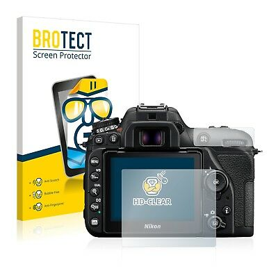 2x Screen Protector Nikon D7500 Protection Film Crystal-Clear Screen Guard