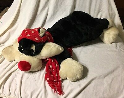 "NEW Rare 2000 LOONEY TUNES Plush Velvety BIG 24"" SYLVESTER The CAT"