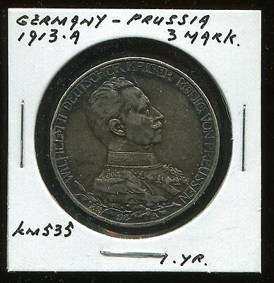 ** Germany - Prussia 1913 A  -  3 Mark **