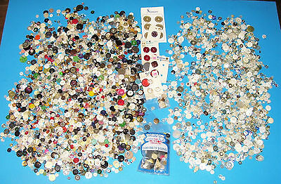LARGE LOT OF MIXED BUTTONS.. ALMOST 4 lbs.. !!
