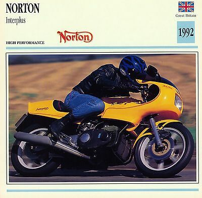 1992 NORTON INTERPLUS motorcycle collector card