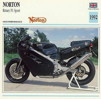 1992 NORTON ROTARY F1 SPORT motorcycle collector card