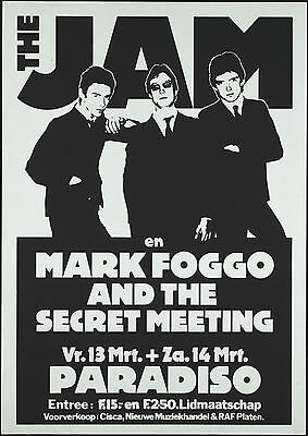 The Jam concert poster print A4 Size