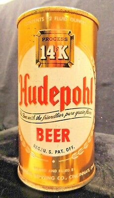 Hudepohl Process 14K Beer - Mid 1960's - 12Oz Keglined Juice Tab Can Cincinnati