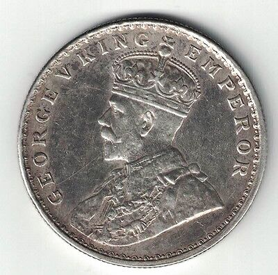 INDIA BRITISH 1918 (c) ONE RUPEE GEORGE V .917 SILVER FOREIGN COIN