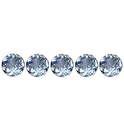 0.52Ct Lot Wonderful Round Cut 3 x 3 mm 100% Natural Blue Beryl