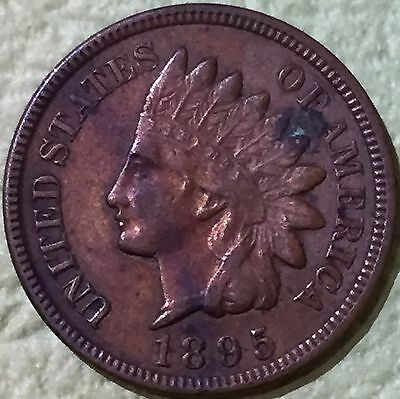1895 U.S. Indian Head One Cent Coin