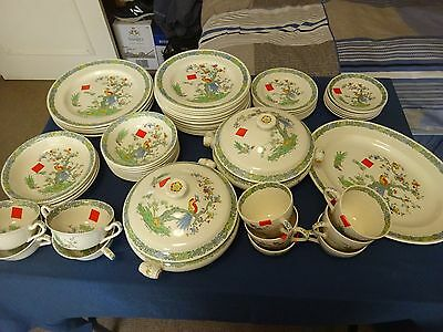 Vintage 60 Piece Spode Porcelain Items-Bermuda Pattern-Rd. No:767995-With Faults