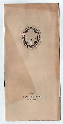 RARE 1909 NEW THEATRE New York City PROGRAM Beethoven WINTHROP AMES Fauchois