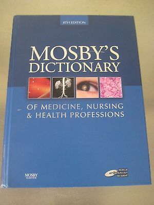 Mosby's Dictionary of Medicine, Nursing, and Health Professions 8th Edition. HC.
