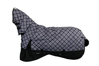 CHONMA 6'3'' 600D 250G Winter Waterproof BreathableTurnout Horse Rug Combo-A44m