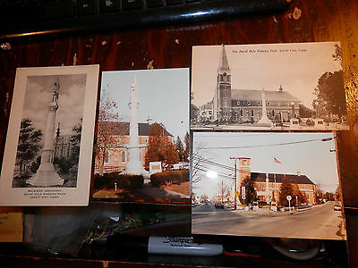 JEWETT CITY CT - CIVIL WAR SOLDIERS MONUMENT - OLD Postcards plus MODERN PHOTOS