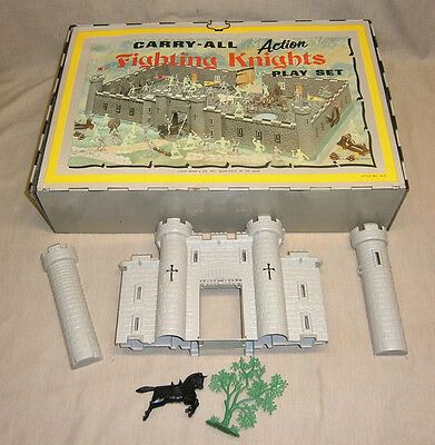 Vintage Marx Carry-All Action Fighting Knights Play Set #4635