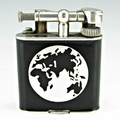 OUTSTANDING Dunhill Unique A Sterling Silver & Black Enamel Eurocentric Globe