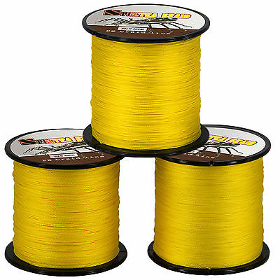 300M 20LB Yellow Dyneema Fishing Braid Line Spectra Braided SuperPower All Water