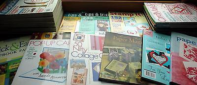 HUGE LOT Scrapbooking and Paper Crafting Magazines and Books