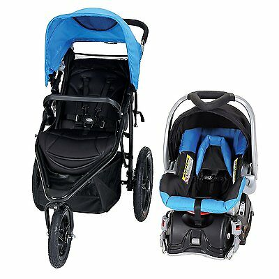Baby Trend Stealth Single Jogger and Car Seat Travel System, Seaport | TJ30509