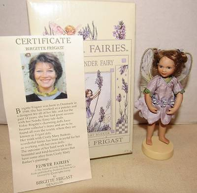 "Birgitte Frigast Porcelain Flower Fairies ""the Lavender Fairy"""